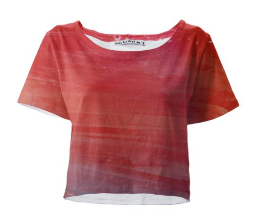 Painted Streams Crop Tee