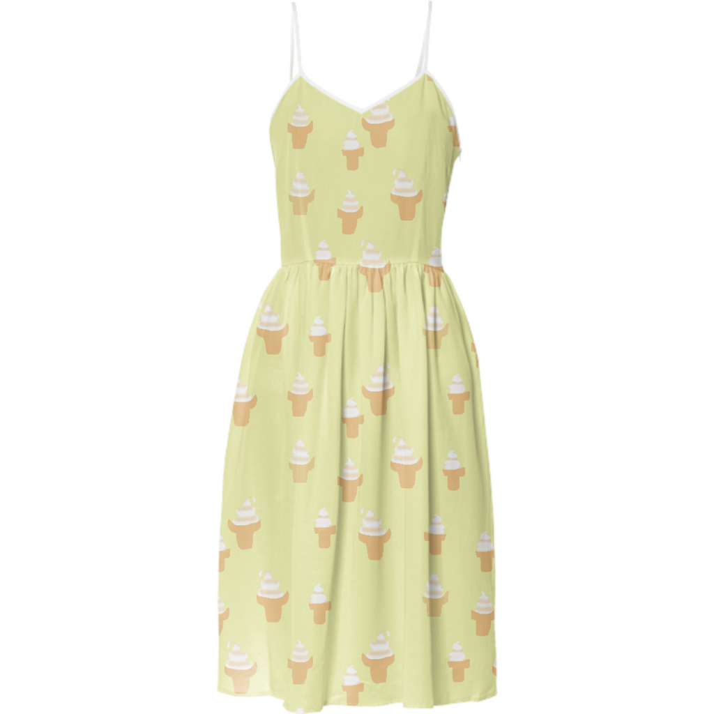 Ice Cream Cone Summer Dress