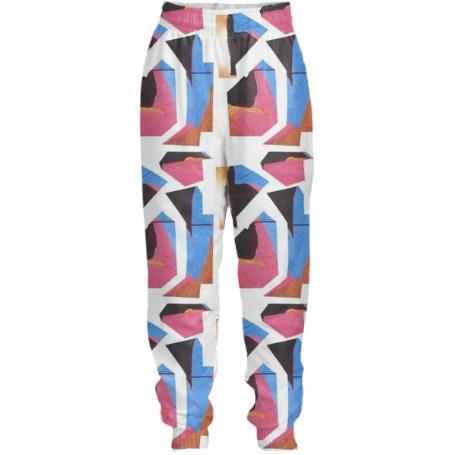 PAOM, Print All Over Me, digital print, design, fashion, style, collaboration, cheryl-donegan, cheryl donegan, Tracksuit Pant, Tracksuit-Pant, TracksuitPant, ExtraLayer, Shattered, autumn winter spring summer, unisex, Nylon, Bottoms
