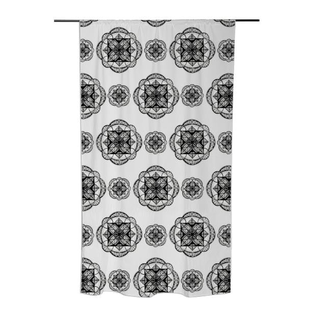 White Vesica Mandala Curtain