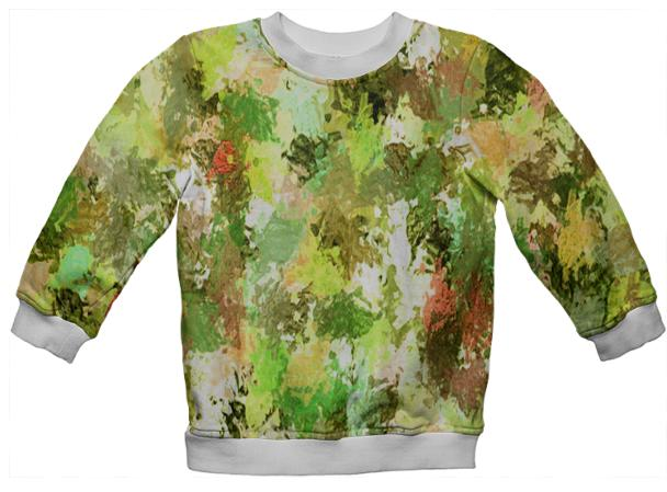 Yellow Paint Splatter Kids Sweatshirt