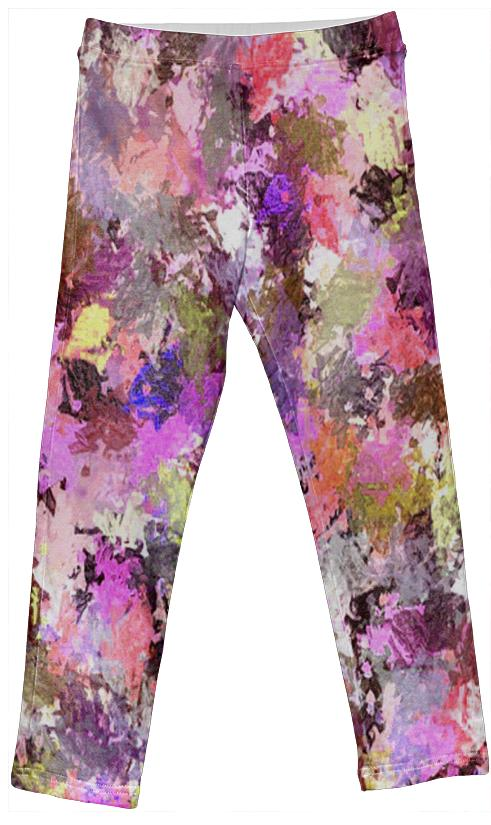Pink Paint Splatter Kids Leggings