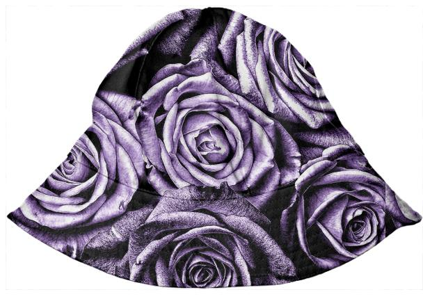 Elegant Purple Roses Kids Bucket Hat