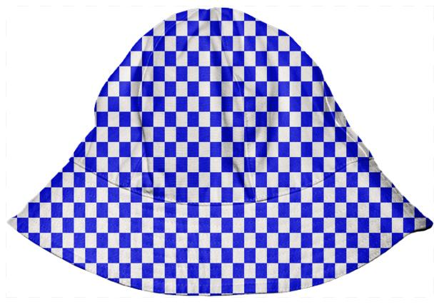Bright Blue Gingham Bucket Hat