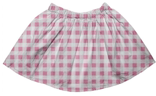 Petal Pink Gingham Full Skirt