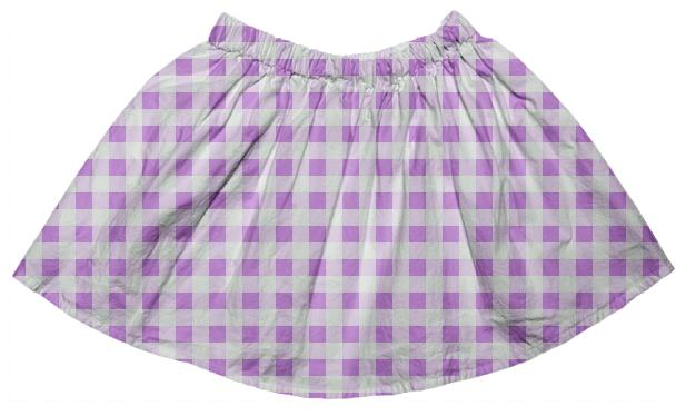 Lavender Gingham Full Skirt
