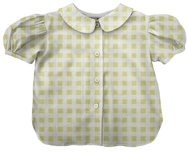 Pale Yellow Gingham Blouse