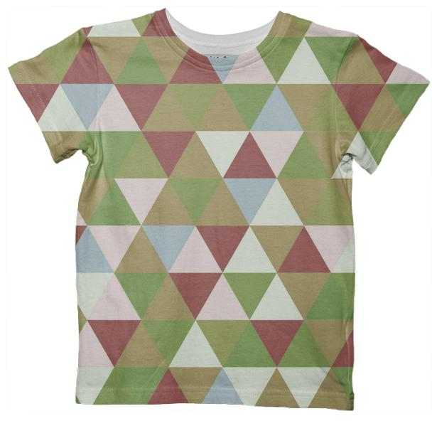 Abstract Triangles 3 Kids T Shirt