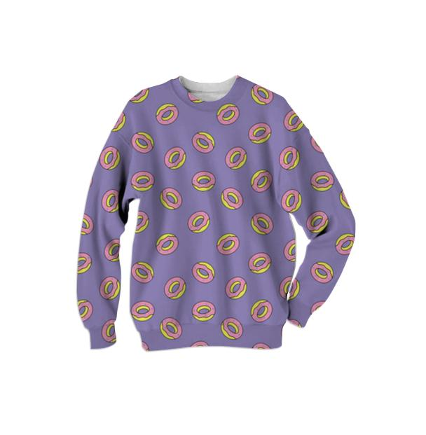 Donut sweater violet
