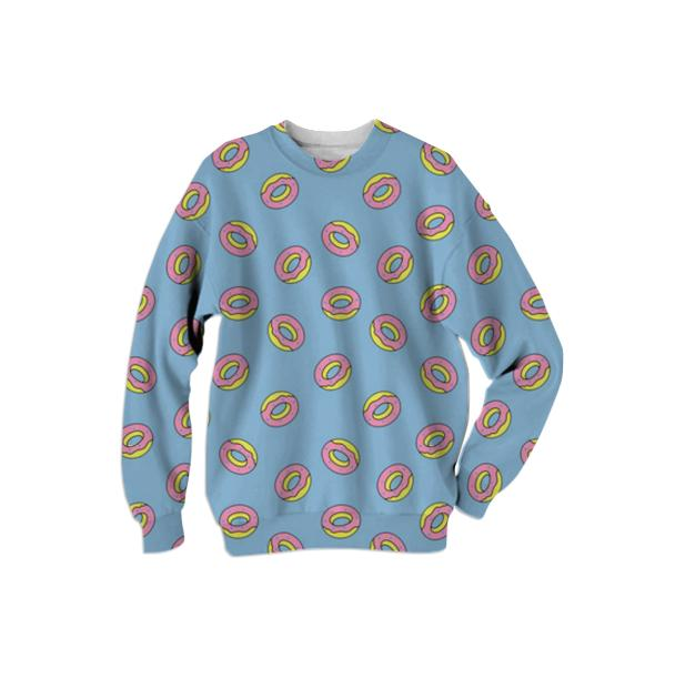 donut sweater blue
