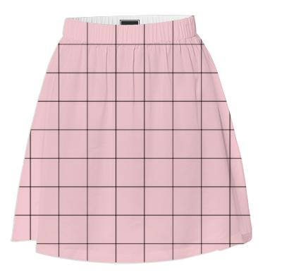 grid short skirt