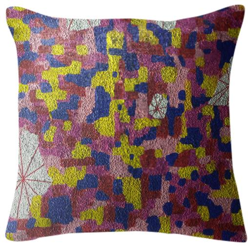 Textured Color Pattern Pillow
