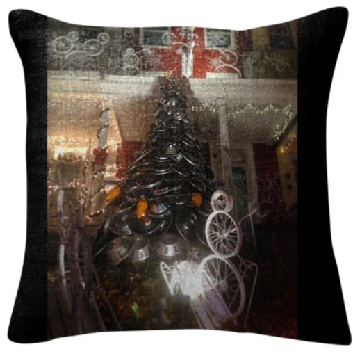 Hubcap Christmas Pillow