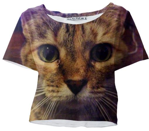 Kitty Face Crop Tee