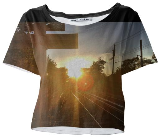 Early Morning Commute Crop Tee