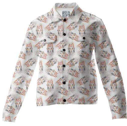 PAOM, Print All Over Me, digital print, design, fashion, style, collaboration, luisa-castellanos, luisa castellanos, Twill Jacket, Twill-Jacket, TwillJacket, Chicken, human, autumn winter, unisex, Cotton, Outerwear