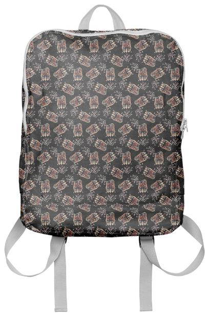 PAOM, Print All Over Me, digital print, design, fashion, style, collaboration, luisa-castellanos, luisa castellanos, Backpack, Backpack, Backpack, Chicken, head, autumn winter spring summer, unisex, Poly, Bags