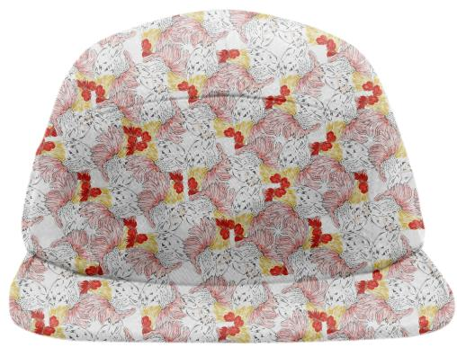 PAOM, Print All Over Me, digital print, design, fashion, style, collaboration, luisa-castellanos, luisa castellanos, Baseball Hat, Baseball-Hat, BaseballHat, Rooster, spring summer, unisex, Poly, Accessories