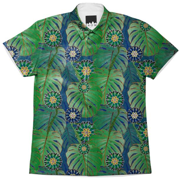 Tropical Plant Short Sleeve Shirt