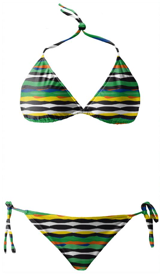 Tropical Stripes Bikini