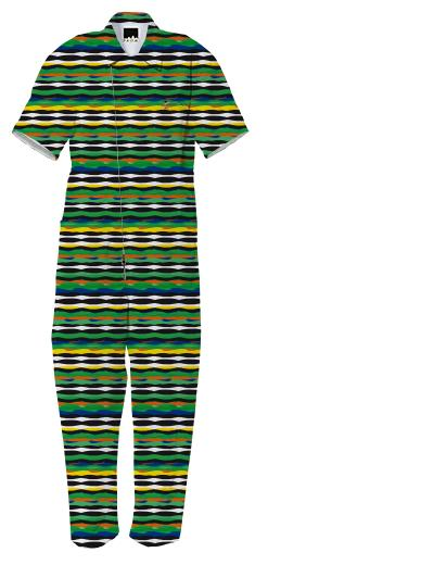 Tropical Stripes Jumpsuit