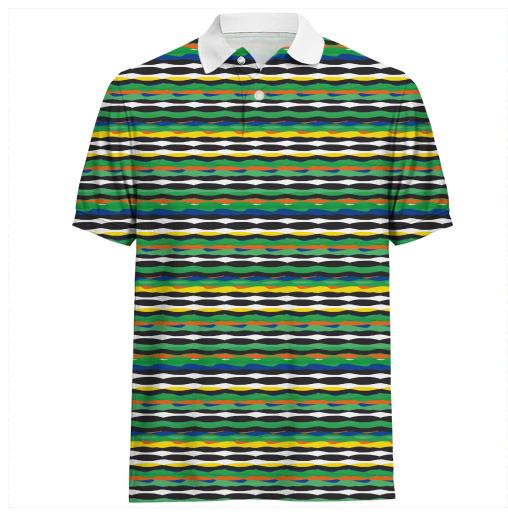 Tropical Stripes Polo Shirt