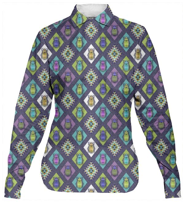 Scarabs Women s Button Down