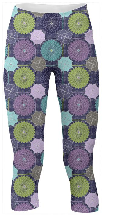 Pond Flowers Yoga Pants