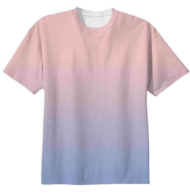 rose quartz serenity pantone gradient t shirt