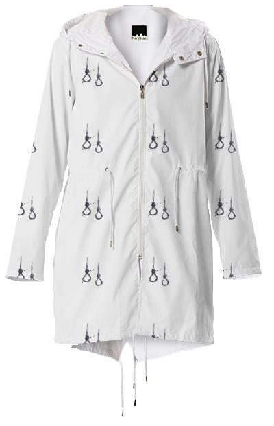 spicy uzi logo pattern raincoat