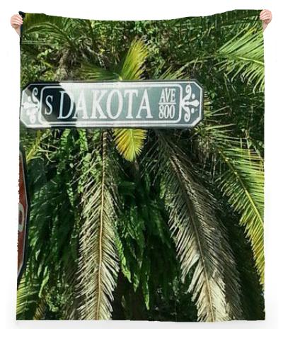 Dakota Ave Linen Beach Throw