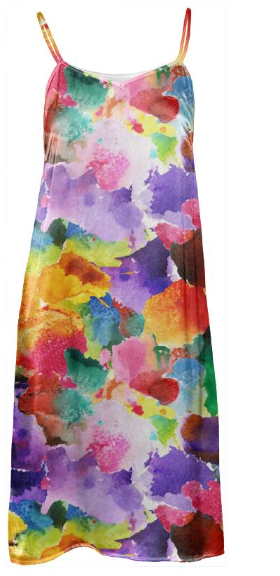 colorful floral pattern Slip Dress