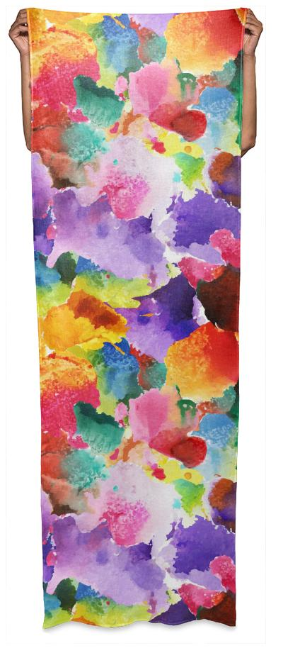 colorful floral patternWrap Scarf