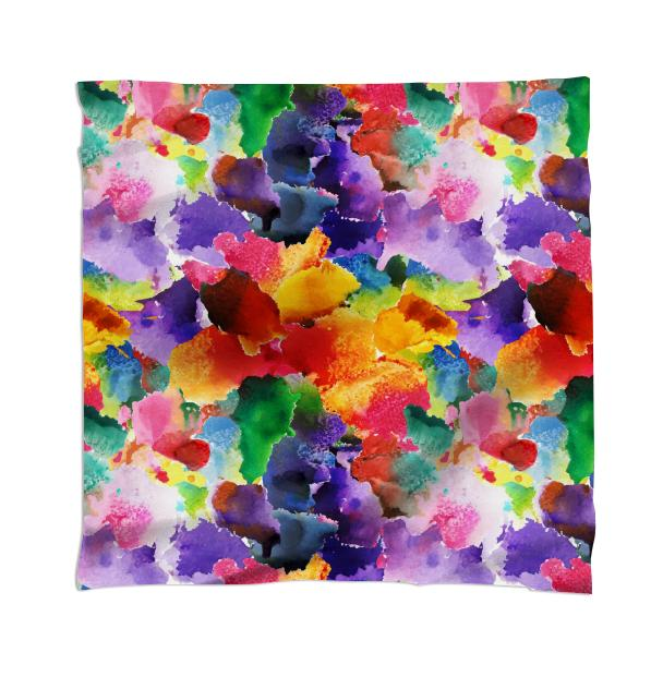 colorful floral pattern Scarf