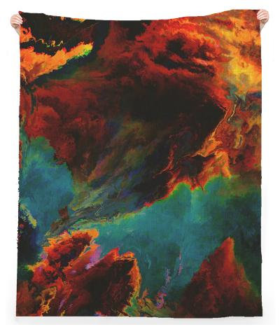 PAOM, Print All Over Me, digital print, design, fashion, style, collaboration, zouassi, Linen Beach Throw, Linen-Beach-Throw, LinenBeachThrow, spring summer, unisex, Linen, Home