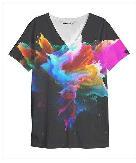 PAOM, Print All Over Me, digital print, design, fashion, style, collaboration, zouassi, V Neck Shirt, V-Neck-Shirt, VNeckShirt, autumn winter spring summer, unisex, Poly, Tops