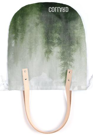 Collard Forest Print Summer Tote