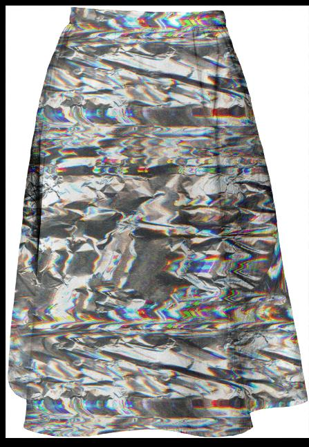 Foiled Midi Skirt