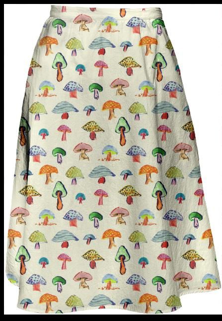 Mushroom Collection Midi Skirt
