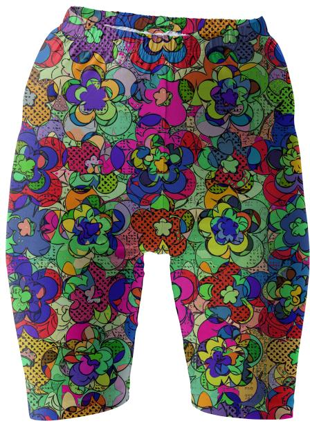 Retroblooming bike shorts