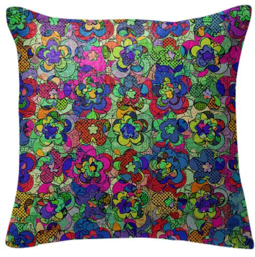 Retroblooming pillow