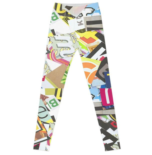 Ransom Note Leggings 2016