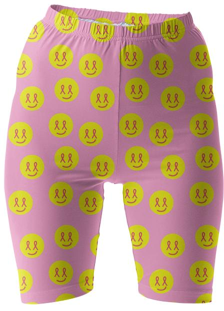 Breast Cancer Awareness Bike Shorts