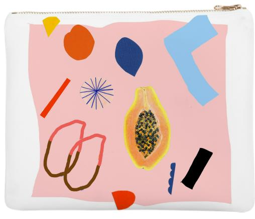 Shapes and Fruits Neoprene Clutch