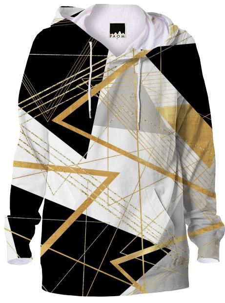Black Gold and Gray Abstract Geometric Pattern