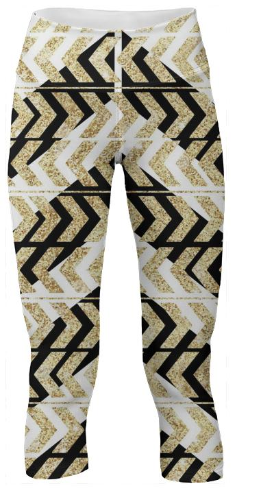 Black and Gold Chevron Pattern