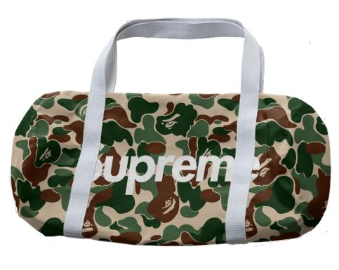 Supreme x Bape Duffle Bag