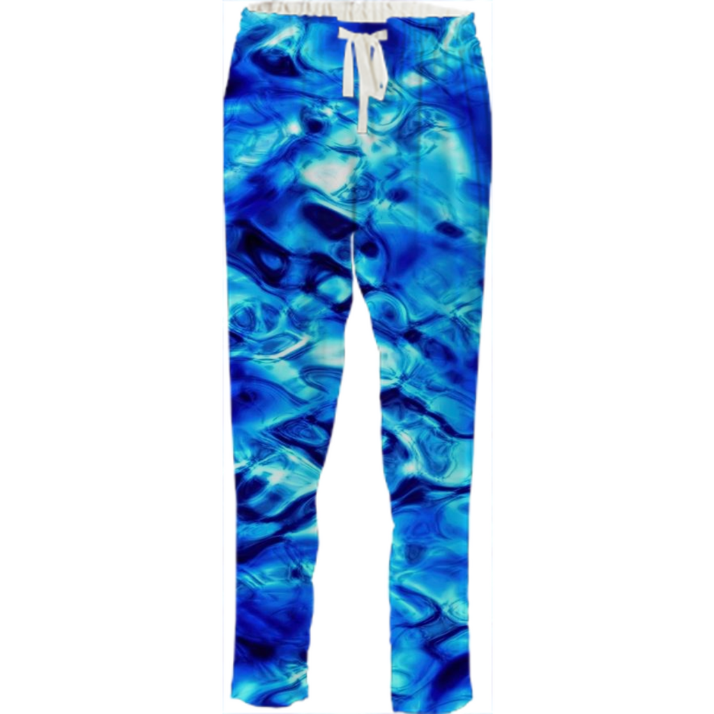 Blue Water Ocean Drawstring Pants