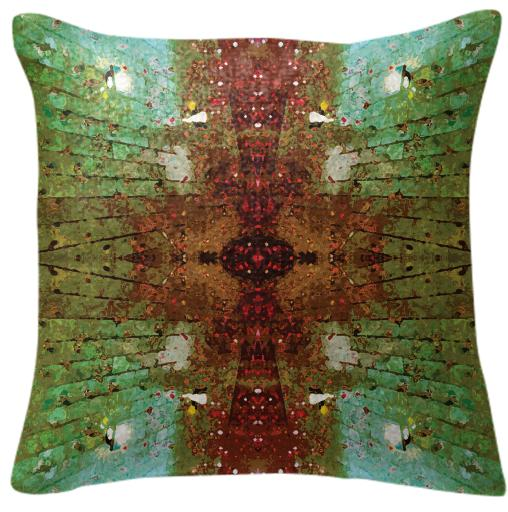 Red Raindrops Pillow