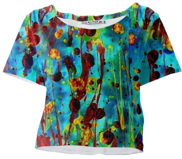 Cool Painting Crop Tee